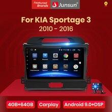Junsun V1 4G + 64G CarPlay Android 10 DSP Cho Xe Kia Sportage 3 2010 2011 2012 2013   2015 2016 Radio Đa Phương Tiện Video DVD