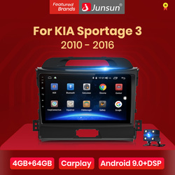 Junsun V1 4G+64G CarPlay Android 10 DSP For Kia Sportage 3 2010 2011 2012 2013 - 2015 2016 Car Radio Multimedia Video Player DVD