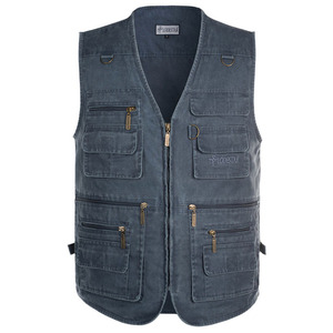 Image 5 - 5XL 6XL 7XL New Male Casual Summer Big Size Cotton Sleeveless Vest With Many 16 Pockets Men Multi Pocket Photograph Waistcoat