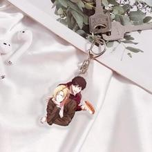 Japan Anime Banana Fish Ash Lynx Okumura Eiji Cosplay Cartoon Double Side Acrylic Keychain Phone Charm Pendant Keyring Xmas Gift