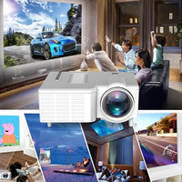 UNIC UC28CB projector supports USB, TF, AV interface soft cloth projection screen + waterproof bag For Home Theater Movie Beamer