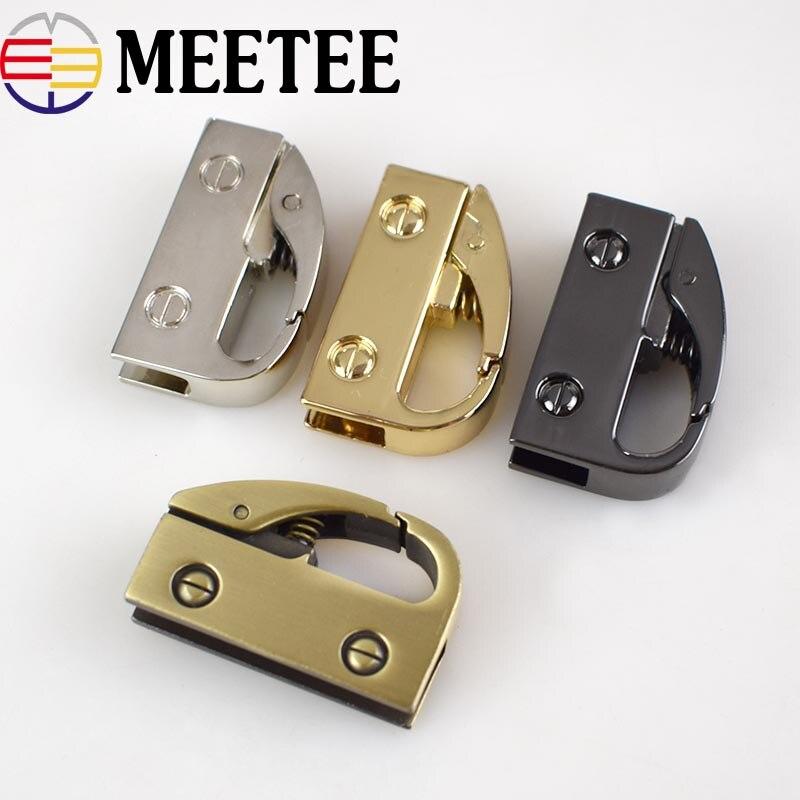 2/4pcs Meetee Metal Clip Buckles Handbag Cap Clasp Screw Bag Side Handles Chain Hook Connector Hanger Hardware Accessories