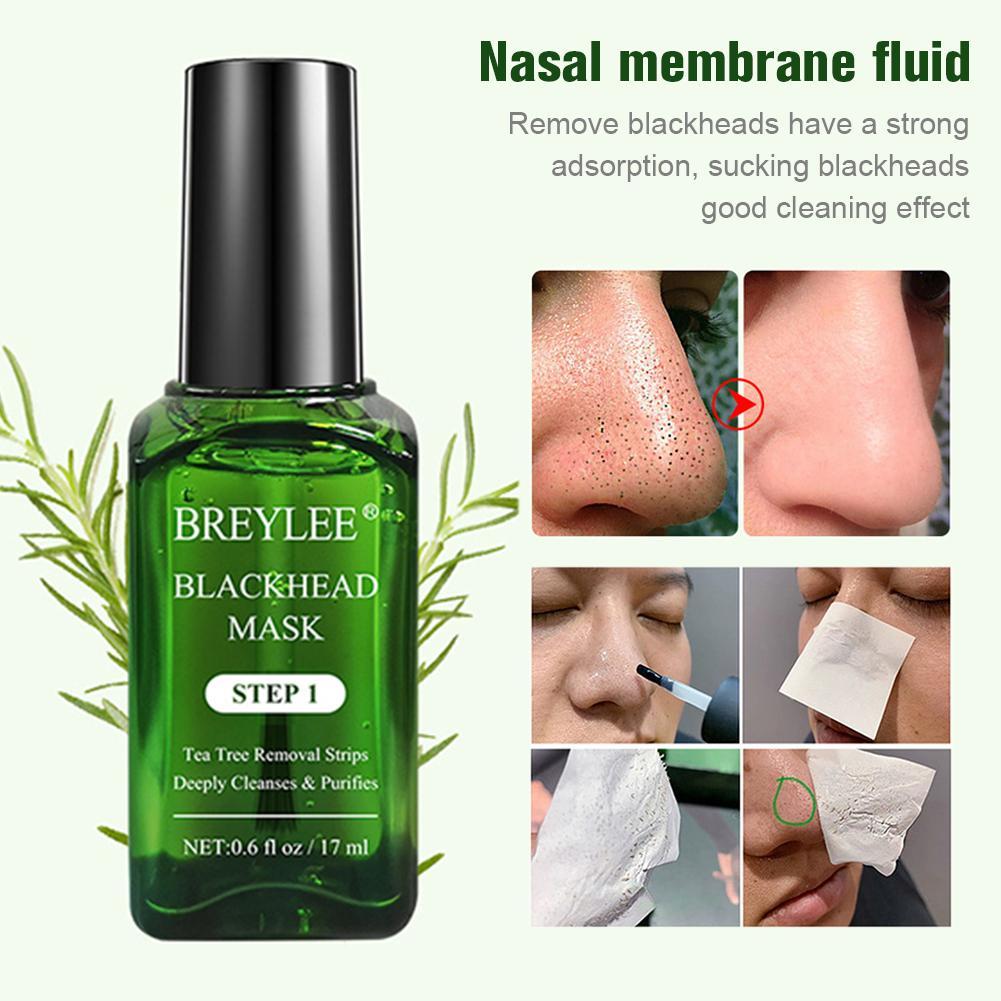 Cabeça preta Máscara do nariz Remover Nariz Preto 17ML 100PCS Papel Membrana Nasal Nasal Membrana Tratamento de Limpeza Profunda Para A Pele