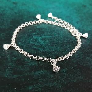 Image 5 - Bastiee Leg Ankle Bracelet 999 Sterling Silver Jewelry Foot Chain Anklets For Women Handmade Gifts Bracelets Dangle Chain Body