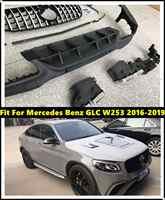 Kits de carrocería delantero trasero paragolpes tubos de escape aptos para Mercedes Benz GLC W253 2016-2019 GLC 63 estilo