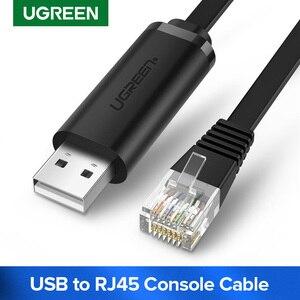 Image 1 - Ugreen USB כדי RJ45 קונסולת כבל RS232 סידורי מתאם עבור סיסקו נתב 1.5m USB RJ 45 8P8C ממיר USB קונסולת כבל