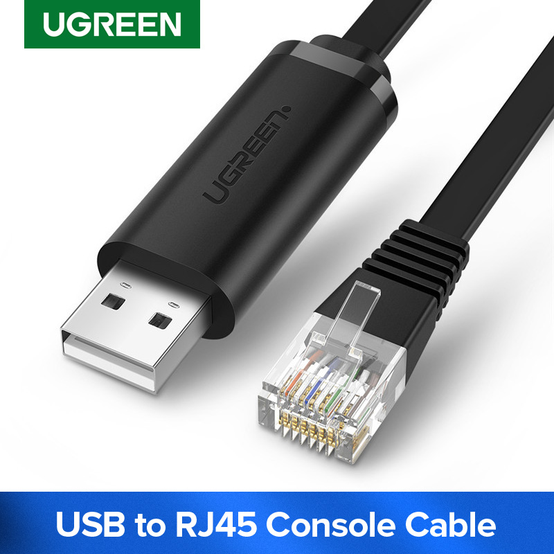 Ugreen USB To RJ45 Console Cable RS232 Serial Adapter For Cisco Router 1.5m USB RJ 45 8P8C Converter USB Console Cable