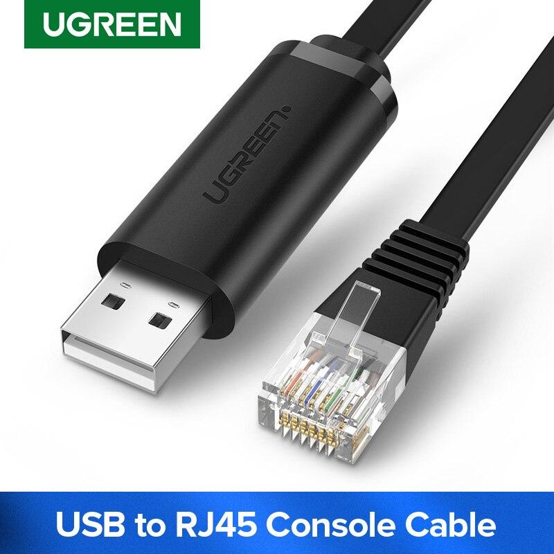 Ugreen USB vers RJ45 câble de Console RS232 adaptateur série pour routeur Cisco 1.5m USB RJ 45 8P8C convertisseur USB câble de Console
