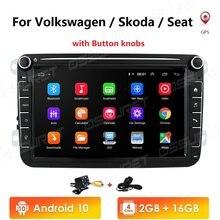 Android 10 2din Radio del coche para VW POLO GOLF 5 6, POLO PASSAT B6 CC JETTA TIGUAN TOURAN EOS SHARAN SCIROCCO CADDY con 4G GPS Navi