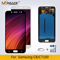 NEW C8 Original LCD For Samsung Galaxy C7100 C710F LCD Display C8 LCD Display Touch Screen Digitizer Replacement Parts