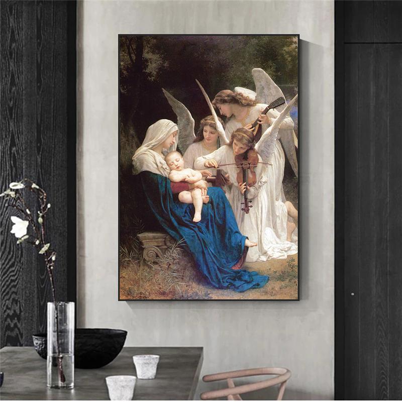 Песня ангела Вильяма Адольфа портрет знаменитая картина маслом