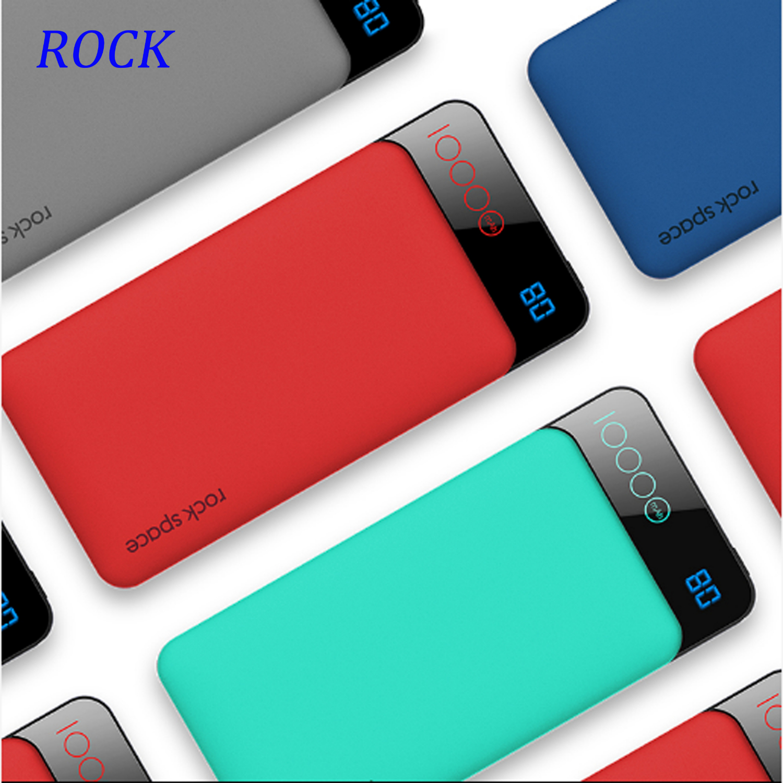 ROCK 10000mAh power Bank type C PD + QC 3,0 портативное зарядное устройство power bank для iPhone XS MAX Xiaomi huawei Внешняя батарея повербанк Внешние аккумуляторы      АлиЭкспресс