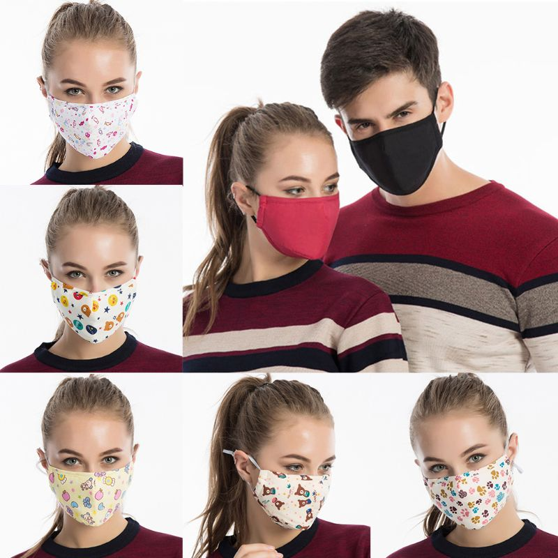 Unisex Cotton Washable Mouth Mask Activated Carbon Dustproof PM2.5 95AB