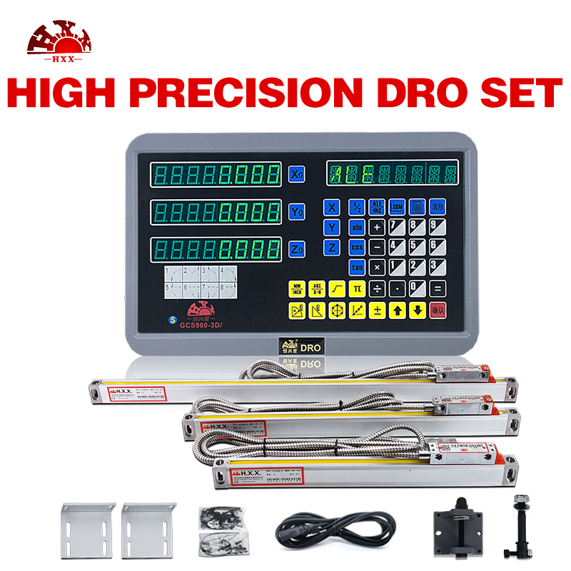 Excellent Quality Assurance 3 Axis Dro With 3Pcs 50 1000mm 1um Digital Linear Scales For Lathe Machine Level Measuring Instruments Tools - title=
