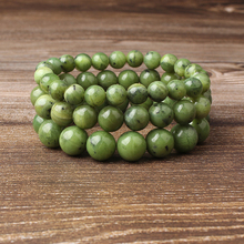 LingXiang 6/8/10/12mm fashion Natural Jewelry army green Grape stones beads bracelet be fit for Glamour rmen and women amulet
