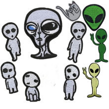New Arrival Alien Things Iron On Patche Embroidery Patches For Clothing DIY Sticker Applique On Jeans T-shirts Jacket Decoration(China)