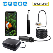 1200P WiFi Endoscope Camera 8mm IP68 Waterproof Inspection Camera Borescope Endoscope HD Snake Camera With 8 LED For IOS Android kerui wifi endoscope camera hd 1200p 8mm waterproof soft hard cable inspection mini camera for ios android windows endoscope
