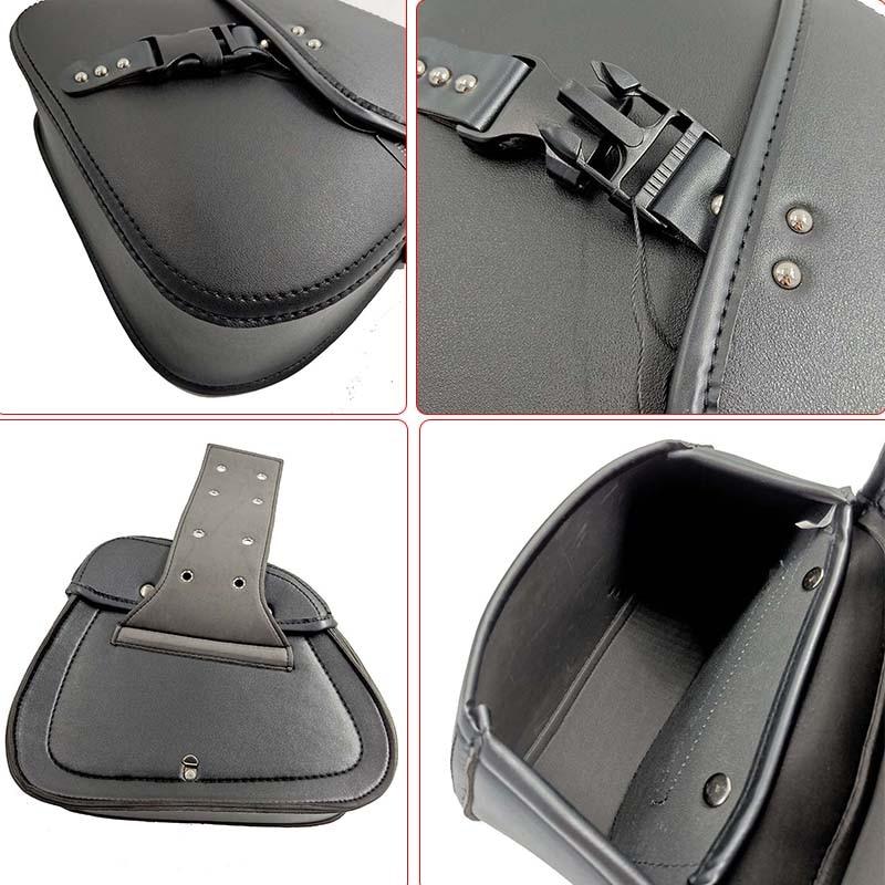 Motorcycle Bag Leather Saddle Bags 2pcs For Harley Sportster XL 883 XL 1200 Side Tool Bag Luggage alforjas para moto saddlebags (17)