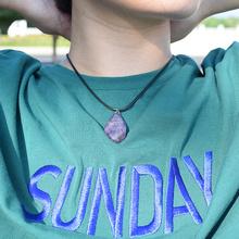 Trendy Natural Amethysts Crystal Necklace Women Irregular Facted Stone Meditation Necklaces & Pendants New Charm Jewelry