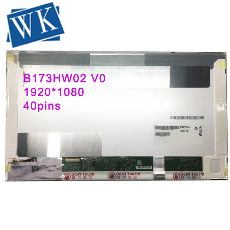 Free Shipping B173HW02 V.0 V.1 HSD173PUW1 B173HW01 N173HGE-L11 L21 LP173WF1 TLB2 1920*1080 40PIN LCD Display Laptop Screen