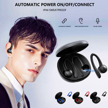 T7 Pro TWS 이어폰 무선 블루투스 5.0 Earhooks 실리콘 소프트 Hifi 스테레오 스포츠 이어폰 헤드셋 충전 박스 포함