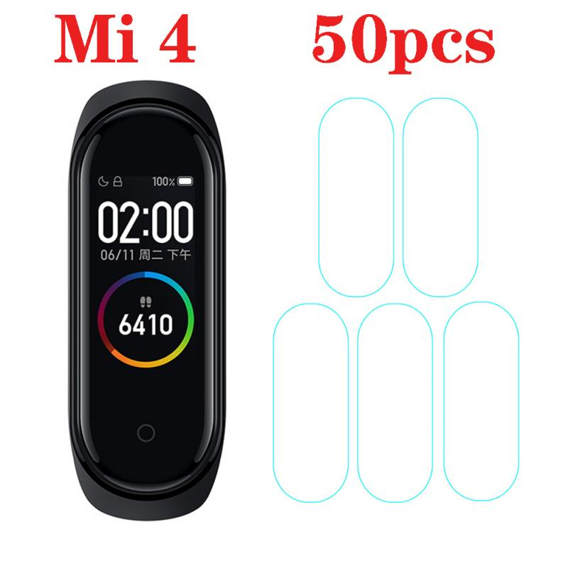Tempered Hydrogel Film Scratch-Resistant Transparent Full Sreen Permeability Protective Film For Xiaomi Smart Band 4