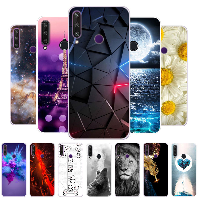 "For Huawei Y6P Case 6.3"" Cool Fashion TPU Soft Silicone Phone Cover For Huawei Y6P MED-LX9N Cases Slim Fundas Y 6P 2020"