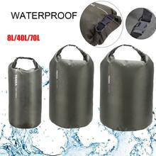 Sac sec étanche Portable d'extérieur 8L 40L 70L, sac de voyage en option, pochette de rangement