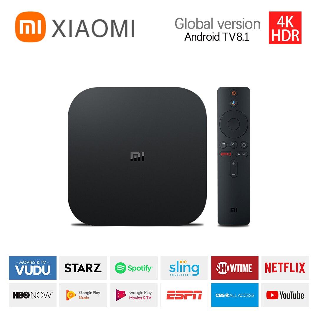 Глобальный Xiaomi TV Box S 4K со сверхвысоким разрешением Ultra HD Android ТВ 2Гб RAM 8Гб ROM умный ТВ Декодер каналов кабельного телевидения Wi-Fi роутер для Google...