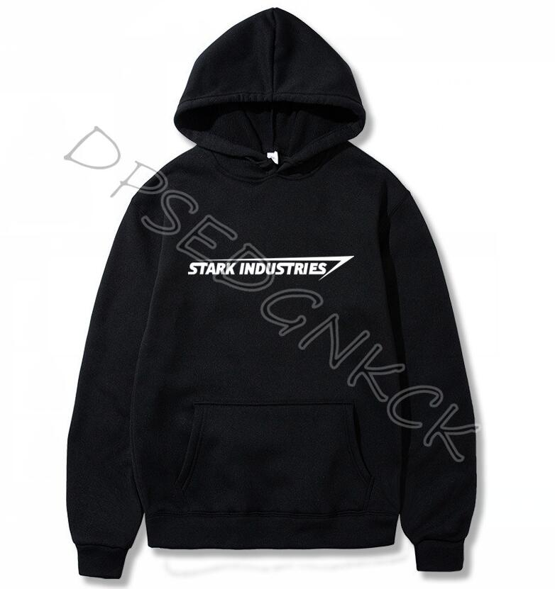 Stark Industries Tony Stark Iron Man Hoodies Casual Novelty Print  Brand Sweatshirts Men And Women Sweatshirt Tops A214