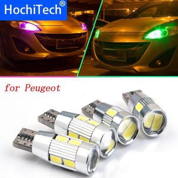 1pc safe No error T10 light W5W high brightness LED Canbus Clearance Lights for peugeot new 301 207 307 206 2008 508 image