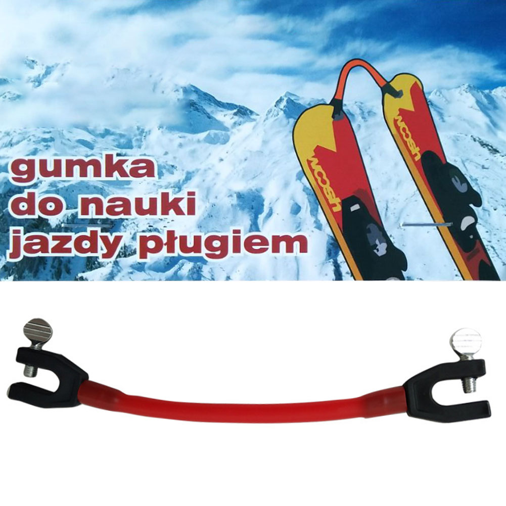 Easy Wedge Beginner Removable Elastic Clip Control Speed Winter Ski Tip Connector Training Outdoor Protection Latex Kids Compact