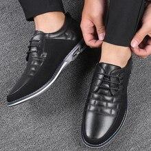 Echtes Leder Männer Müßiggänger Casual Sneakers Lace up Wohnungen Männer Trainer Schuhe Erwachsene Driving Mokassins Chaussure Homme Cuir 2020