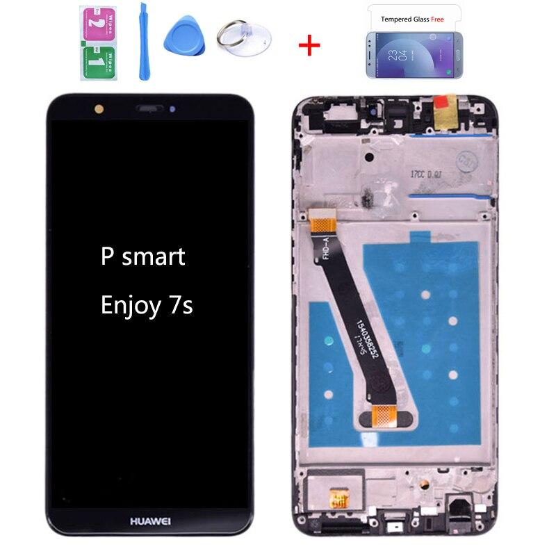 Original pour Huawei P Smart LCD affichage écran tactile numériseur assemblée pour Huawei profiter 7S LCD avec cadre FIG LA1 LX1 L21 L22