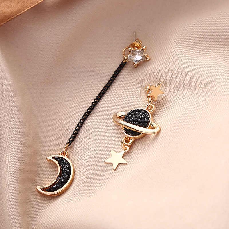 Kobiety Bohemia proste duże koło kolczyki wiszące w kształcie gwiazdki Boho kobiety elegancki kolczyk biżuteria