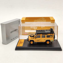 Master 1:64 For L-R Defender 110 Diecast Models Toys Car with Luggage Rack Collection Orange