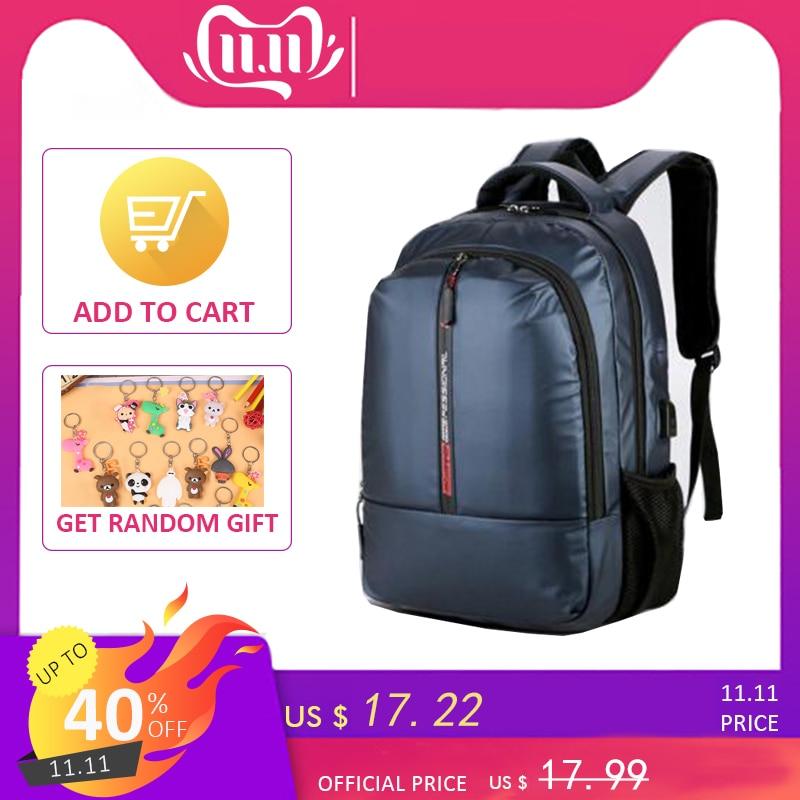 Shellnail Waterproof Laptop Bag Backpack 15.6-17.3 Inch Notebook Bag 15-17 Inch Computer Bag USB For Macbook Air Pro Dell HP Bag
