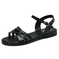Summer Women's Ladies Roma Flat Sandals Casual Shoes women sandals genuine leather shoes women summer size 34-43