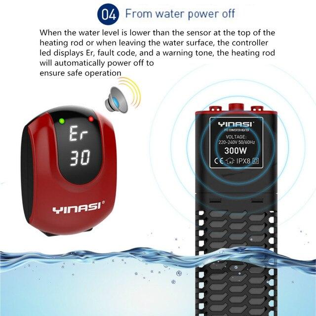 PTC automatique 300/500W | Mini tige de chauffage pour Aquarium, réservoir de poissons Submersible, Thermostat automatique, fournitures pour animaux de compagnie