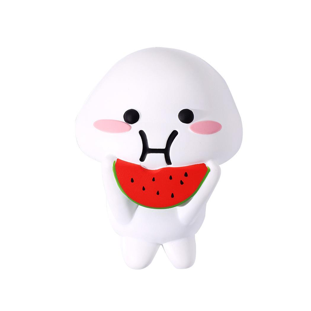 Rabbit Watermelon Doll Scented Squeeze Stress Relief Cute Slow Toy Rising White And Red Toy Squeeze Cute Toy.