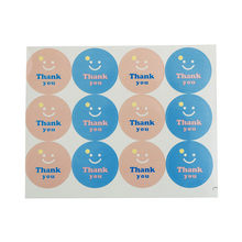 "120pcs/10 sheets handmade ""Thank you"" Ellipse Seal package label sticker For bakery cake biscuit products Party Supplies(China)"