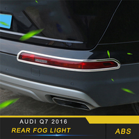 For Audi Q7 4M 2016 2017 2018 Car Styling Rear Fog Light Lamp Chrome Cover Trim Frame Sticker Exterior Accessories