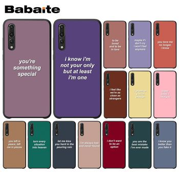 Babaite Colorful background lyrics Beautiful Phone Accessories Case for Huawei P20 Pro P10 Plus P9 Mate 10 Lite Mobile Cases image