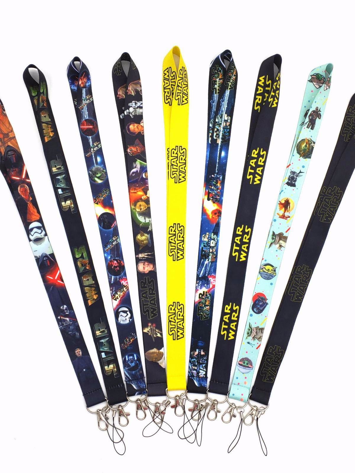 Mobile-Phone-Lanyard Badge Keychain Star-Wars-Series Multicolor Wholesale ID Student