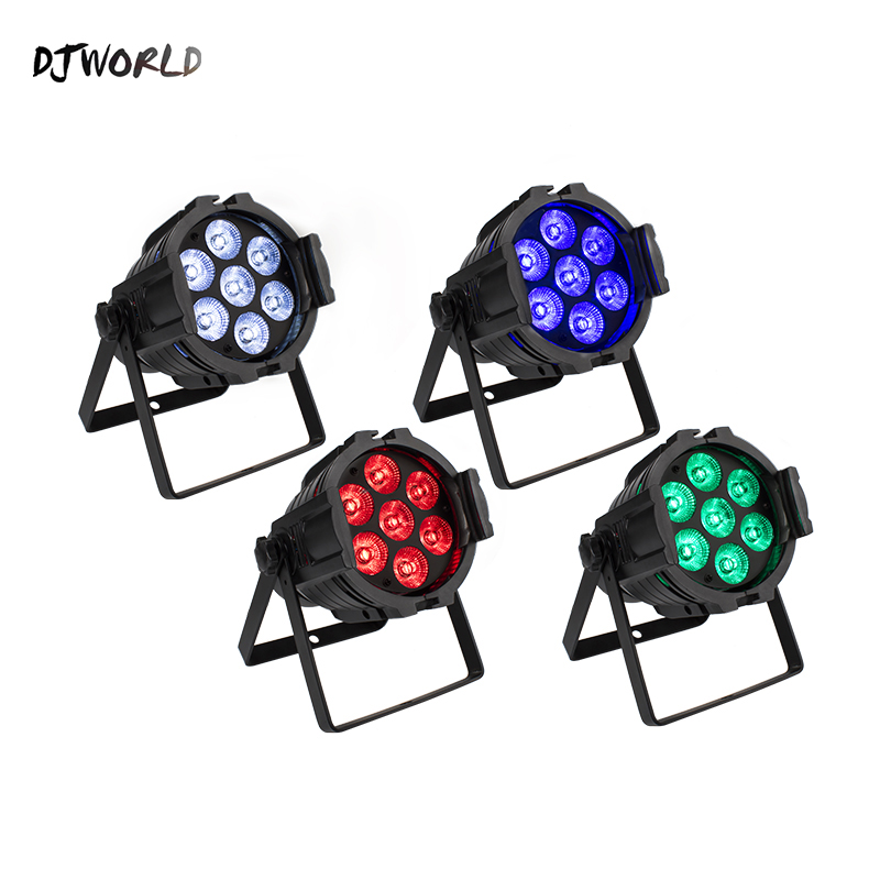 LED Par Can 7x12W Aluminum Alloy LED Par RGBW 4in1 DMX512 Wash Dj Stage Light Disco Party Light Dj Lighting Ballroom