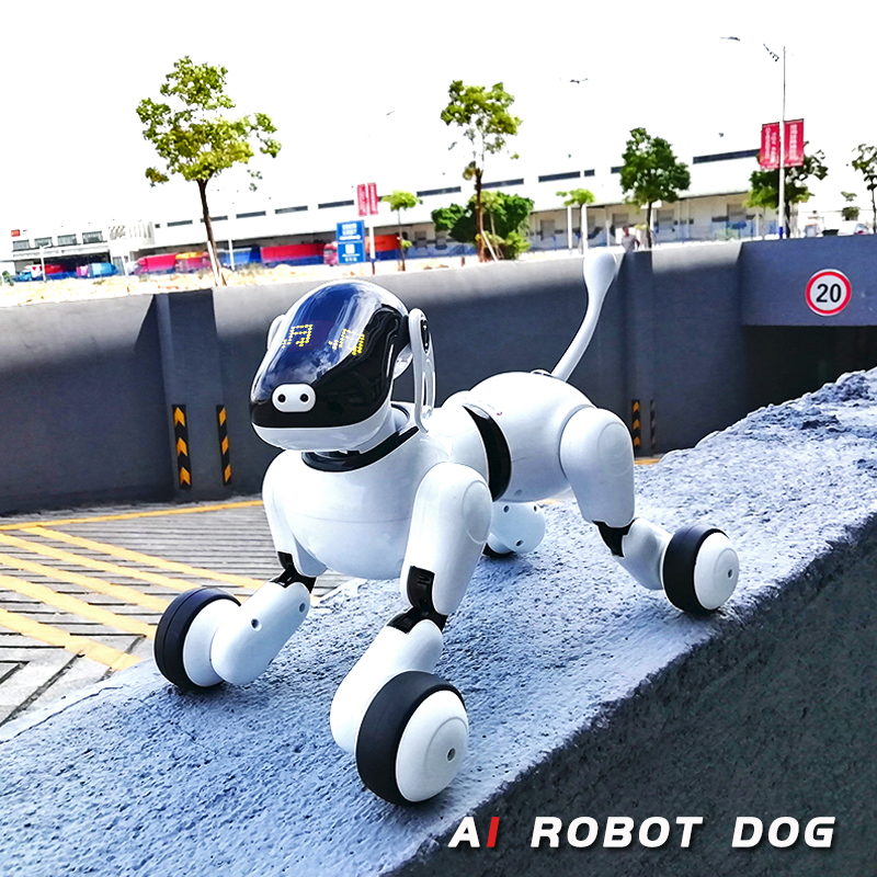 Детские игрушки 1803 AI собака Робот игрушка для вашей семьи приложение управление Bluetooth подключение умный электронный AI собака игрушка контр