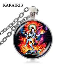 KARAIRIS Buddha Lord of the Dance of Destruction Necklace Lord Shiva Pendant Buddhist Jewelry Hindu Deity Spiritual Necklaces lord of temptation
