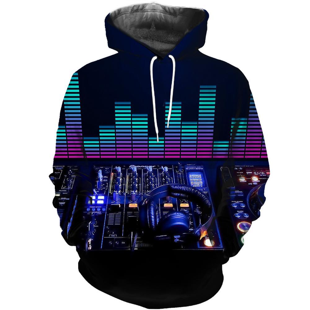 New 2019 Pioneer Pro DJ Sweatshirt Audio Ddj Hoodie Men Women Casual DJ Controller Clothes Hoodies Hip Hop Hoody Drop Shipping