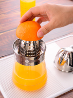Hot Sale 304 Stainless Steel Manual Glass Juicer Cup Orange Lemon Squeezer Kitchen Gadgets Kitchen Stuff Squeezers & Reamers