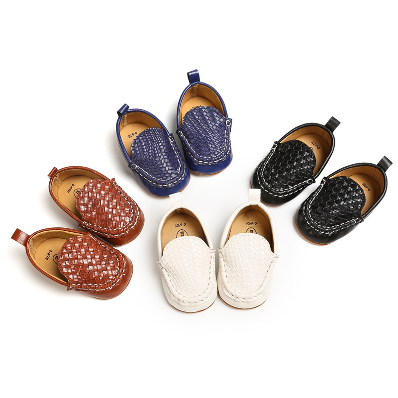 2019 New Fashion Soft Bottom Infants Boys Girls Loafers Shoes Newborn Solid PU Leather Baby Casual Baby Moccasins